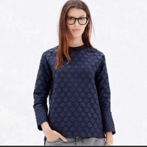 Madewell Mood Dot Navy Pullover